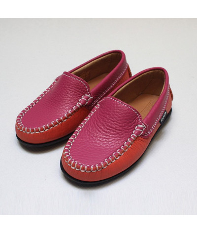 Mocassins enfant rose
