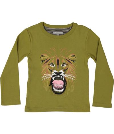 T-Shirt Vegan Lion Olive