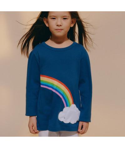 Girl T-Shirt Lucky Rainbow
