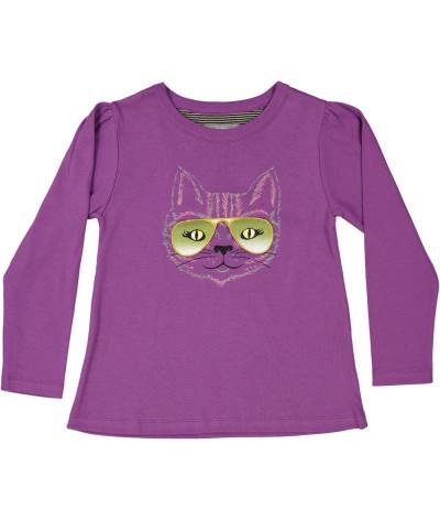 Girl T-Shirt Cat's Eyes
