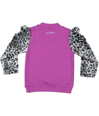 Sweat Shirt fille Leopard Couple