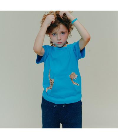 T-Shirt Leopard Pocket