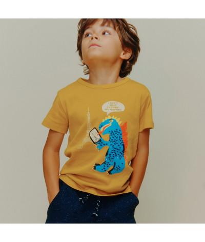 T-Shirt Paris Monster Gold
