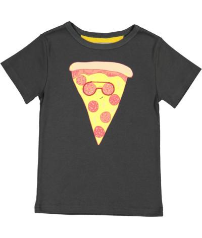 T-Shirt Pizza Glasses Onyx