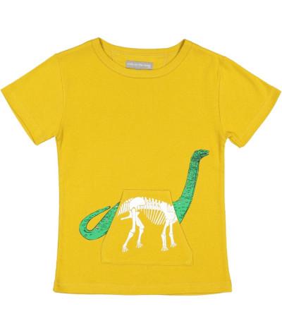 T-Shirt X-Ray Dino Gold