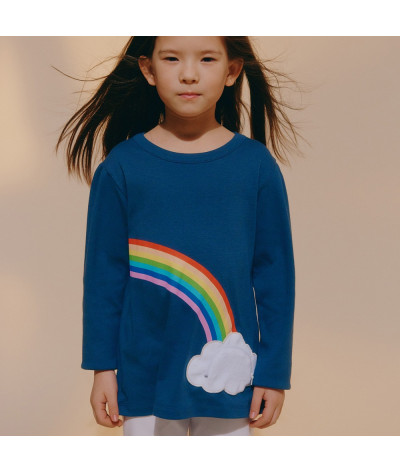 Girl T-Shirt Lucky Rainbow