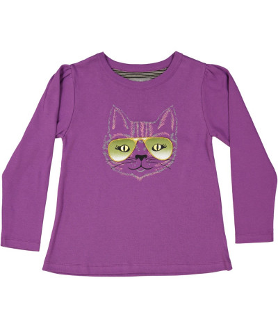 Girl T-Shirt Cat's Eyes