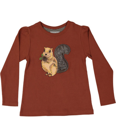 Girl T-Shirt Squirrel