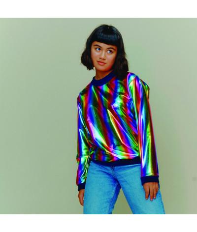 Woman Sweat Shirt Rainbow
