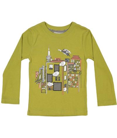 T-Shirt NYC Windows Olive