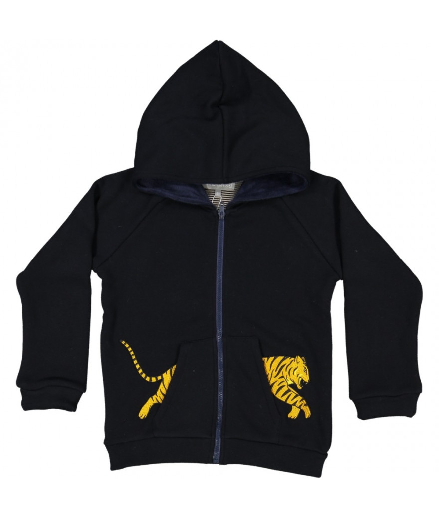Hooded Jacket Tiger Pocket