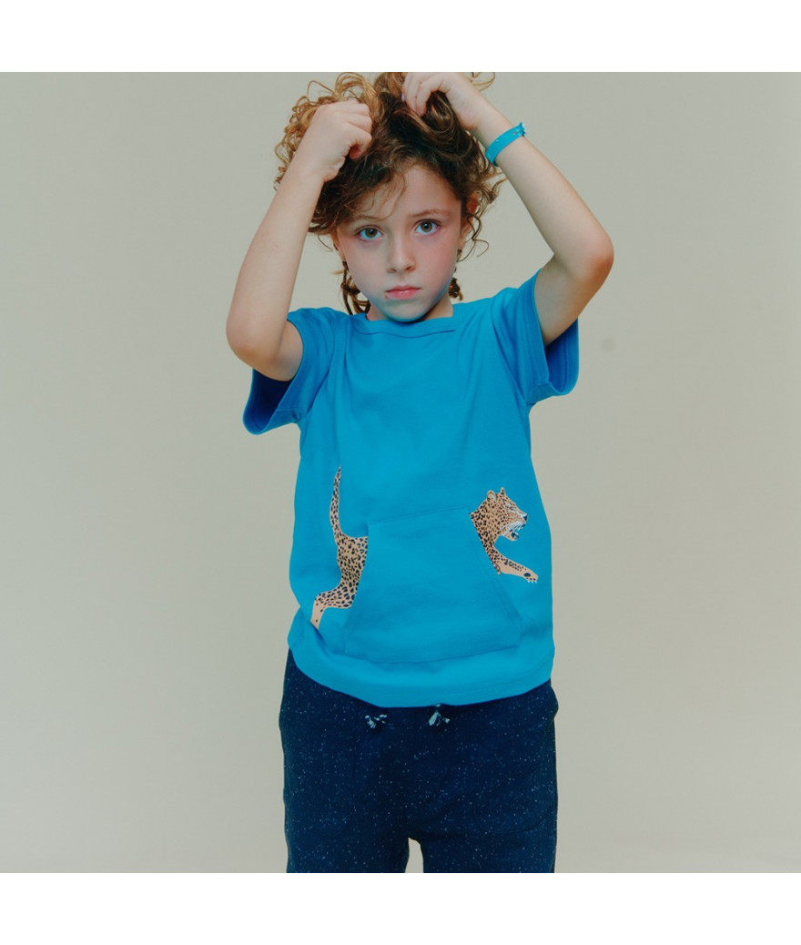T-Shirt Leopard Pocket