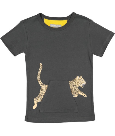 T-Shirt Leopard Pocket Onyx