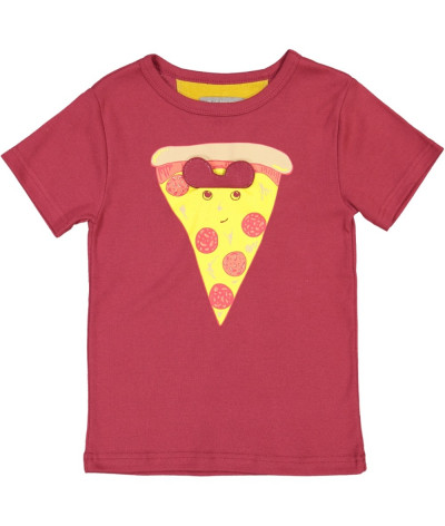 T-Shirt Pizza Glasses Cassis