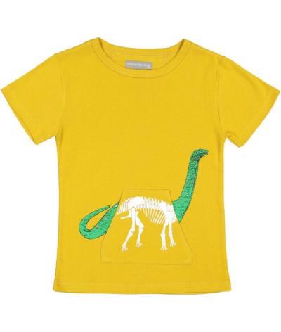 T-Shirt X-Ray Dino Gold