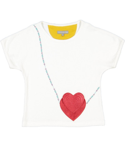 T-Shirt Fille Double Heart Cloud