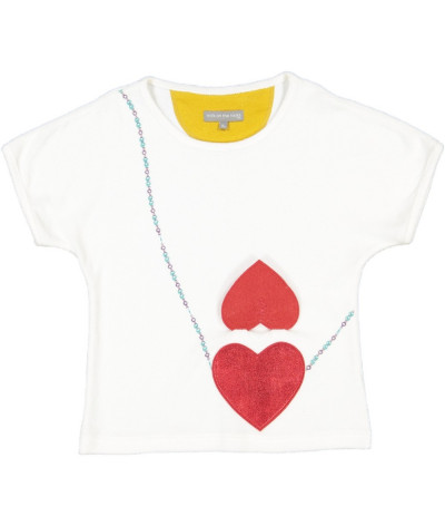 Girl T-Shirt Double Heart Cloud
