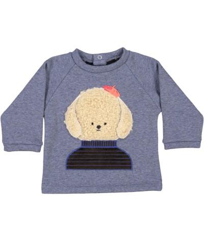 Baby Sweatshirt Bonjour Puppy
