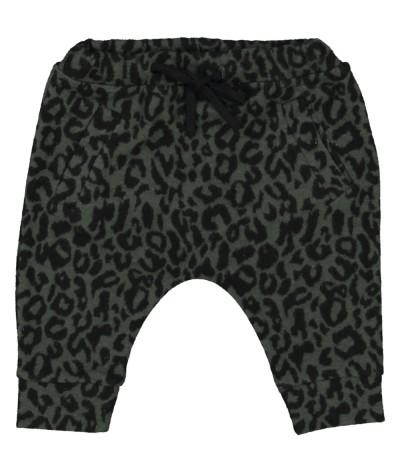 Baby pants khaki leopard